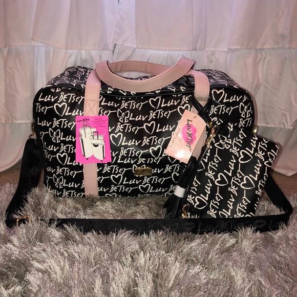 0234961f28 Betsey Johnson Weekender Duffle  Travel Bag
